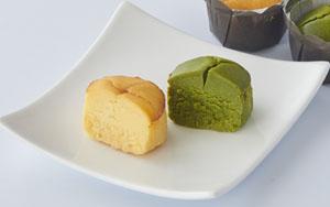 「チーズケーキ 醍醐の花(プレーン、抹茶)」